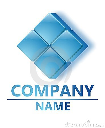 Blue  glass company logo