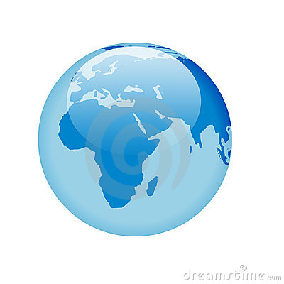 Free Blue Glass Globe Royalty Free Stock Photography - 1064197