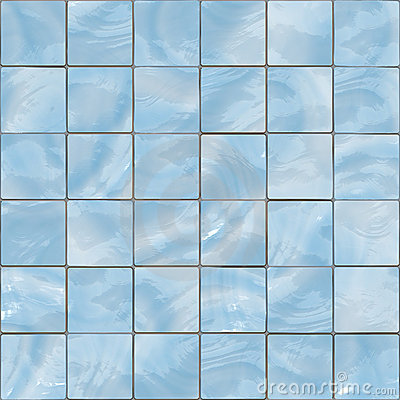 Blue Glass Tiles Seamless Texture Royalty Free Stock