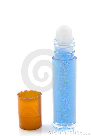 Blue glitter lipgloss
