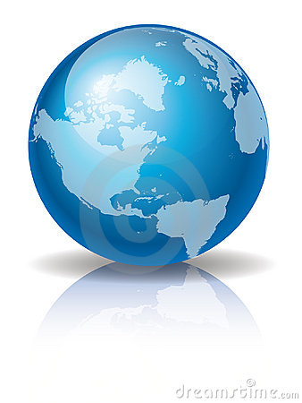 Free Blue Globe 3 Royalty Free Stock Image - 12662086