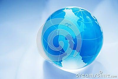 Blue globe western hemisphere
