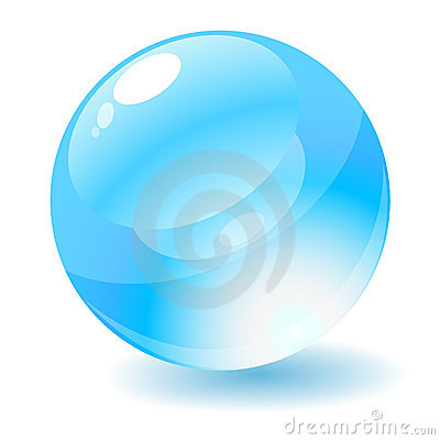 Free Blue Glossy Circle Web Button. Royalty Free Stock Photography - 8339397
