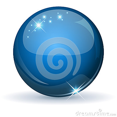 Free Blue Glossy Sphere Stock Photos - 26173293