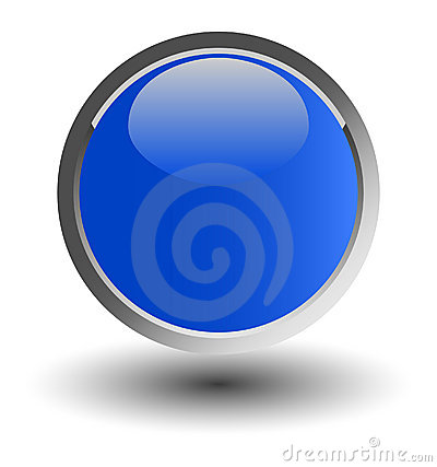 Blue glossy web button