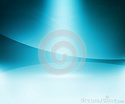 Blue Glow Abstract Background