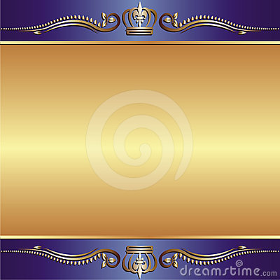 Blue gold background