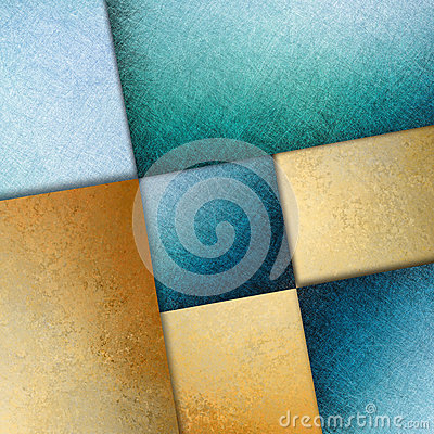 Free Blue Gold Background Abstract Graphic Art Design Image Royalty Free Stock Image - 44478176