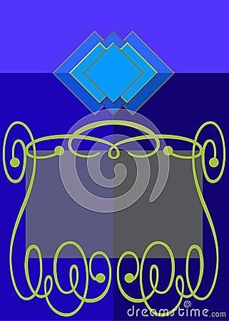 Blue gold label
