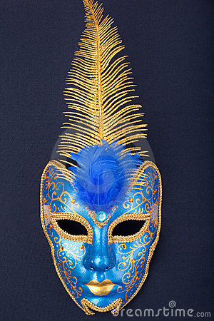 Blue and gold mask