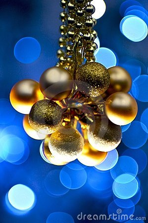 Blue Golden Ornaments
