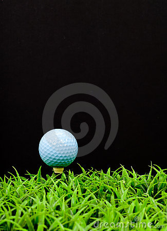 Blue Golf Ball on Tee