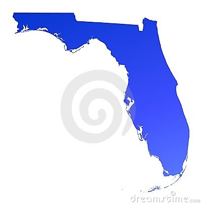 Blue gradient Florida map