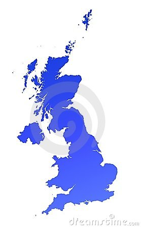Blue gradient UK map