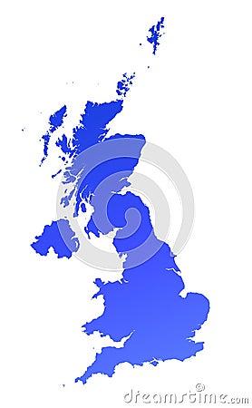 Blue gradient UK map