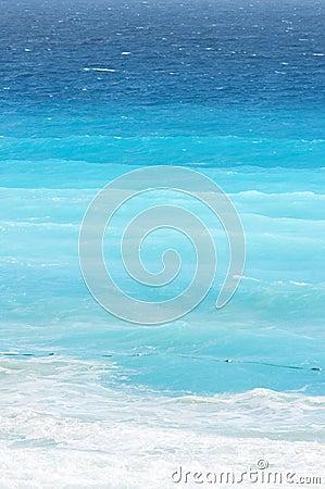 Blue Gradients of Ocean at Caribbean Beach