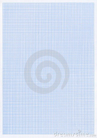 Blue graph or grid paper