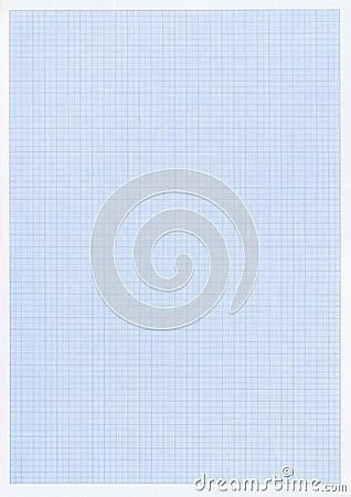 Blue graph or grid paper