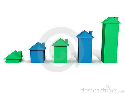 Blue & Green 3D house graph