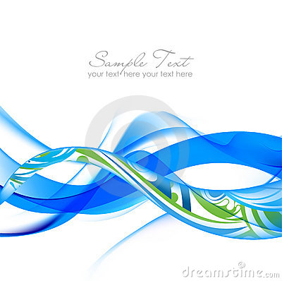 Blue and green Abstract fume waves