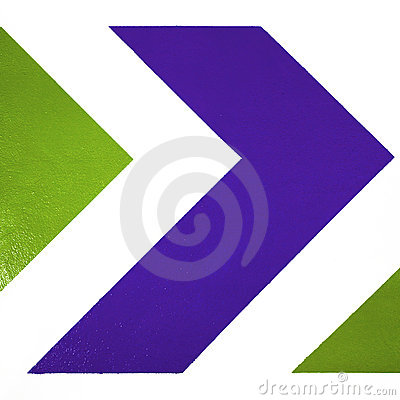 Blue and green arrows