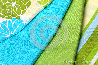Blue and Green Colorful Palette of Fabric