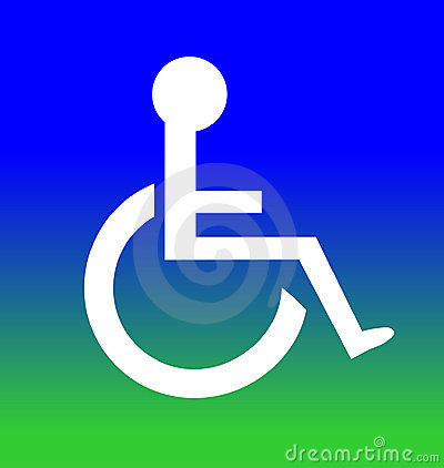 Blue Green Disabled Symbol