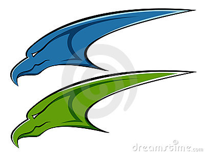 Blue and green eagle logo