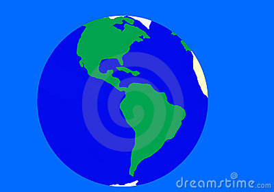 Blue - green Earth background.