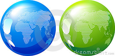 Blue and green Earth - eco energy concept