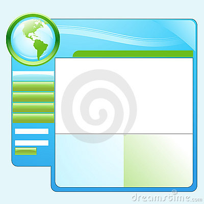 Blue Green Earth Website Template
