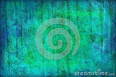 Blue-green grunge background