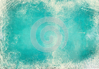 Blue green grunge background