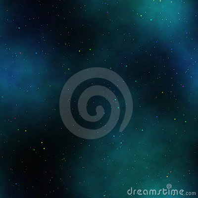 Blue green nebula