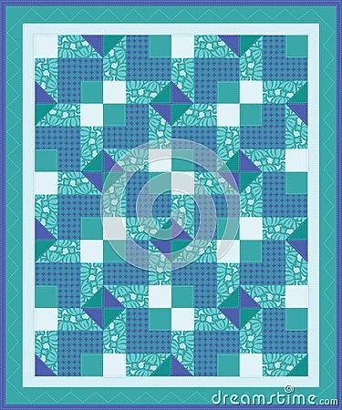 Blue Green Quilt