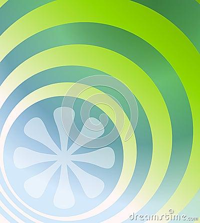 Blue Green Retro Background