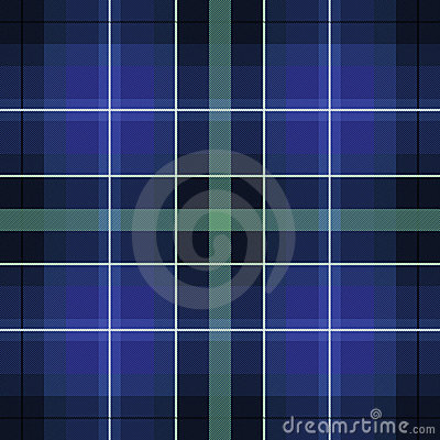 Blue green scottish pattern