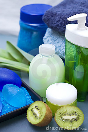 Blue and green spa