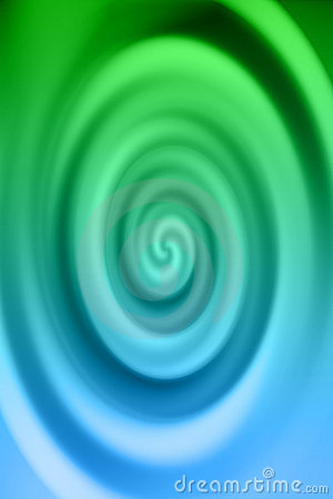 Blue & Green Swirl