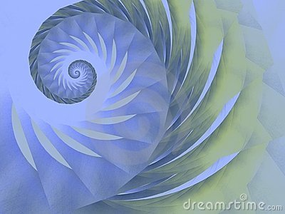 Blue Green Swirl Spiral Design