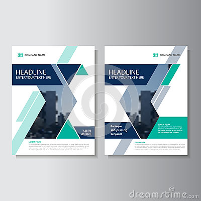 Free Blue Green Triangle Geometric Vector Annual Report Leaflet Brochure Flyer Template Design, Book Cover Layout Design Royalty Free Stock Photography - 71116707