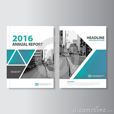 Free Blue Green Vector Annual Report Magazine Leaflet Brochure Flyer Template Design, Book Cover Layout Design Royalty Free Stock Photo - 67675675