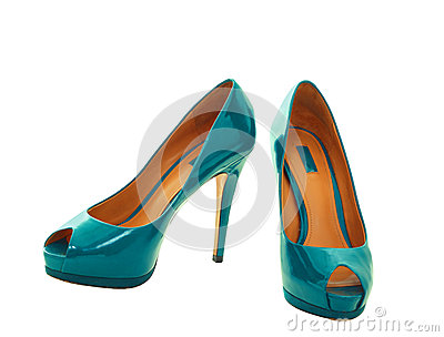 Blue green women shoes