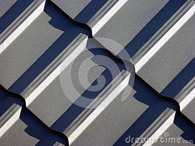 Blue grey roofing from metal plate