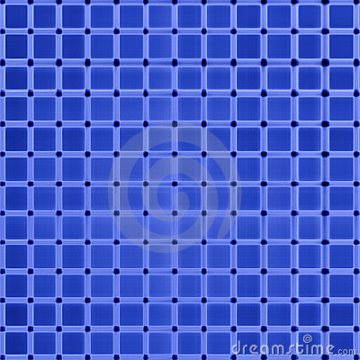 Blue grid abstract pattern.