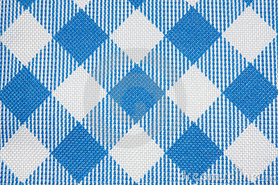 Blue Grid Fabric Texture