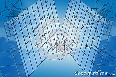 Blue Grid With Math Formulas
