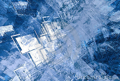 Blue grunge abstract