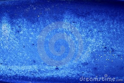 Blue grunge aged paint wall texture background