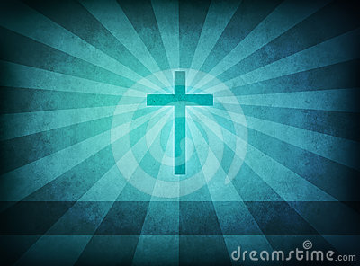 Blue grunge Cross